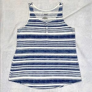 ⭐️3/$15⭐️ Blue and white striped tank top